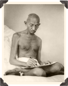 gandhi_writing_photo